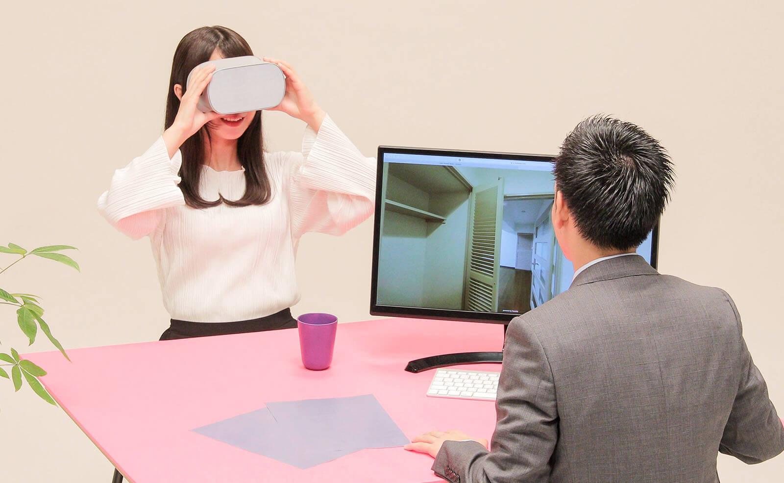 ワンクリックでVR同期で接客開始。Oculus go対応の業界初の瞬間接客VR
