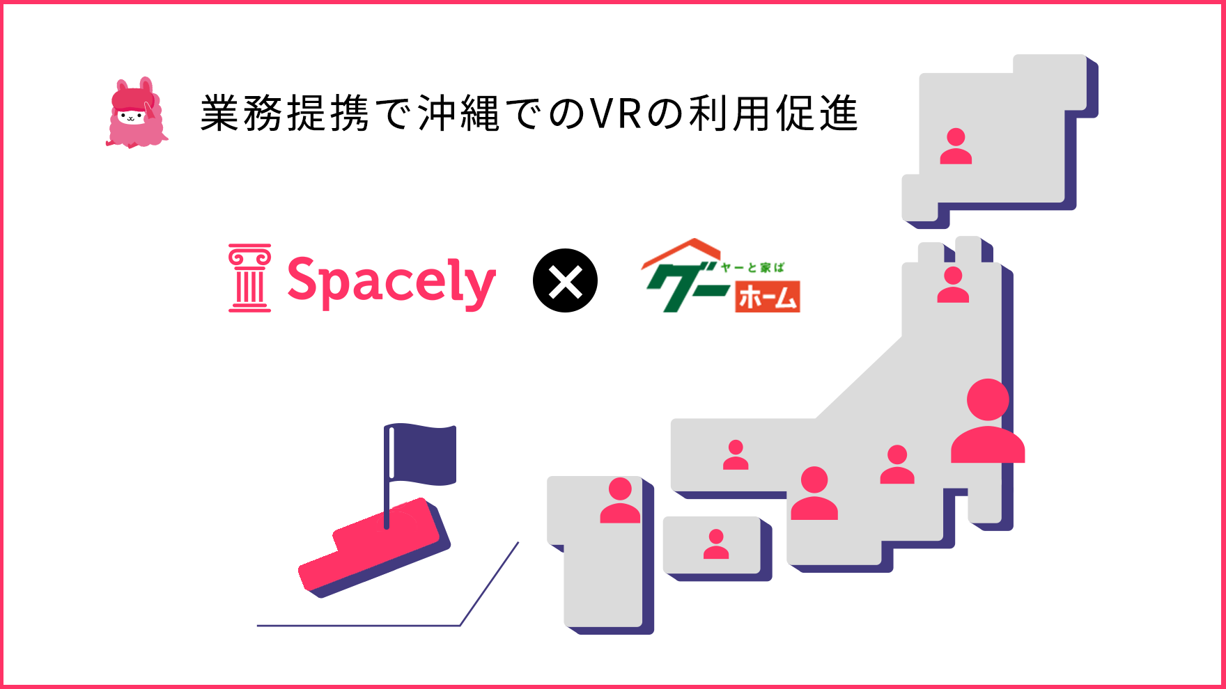 VRクラウド「スペースリー」沖縄県の不動産物件掲載数最大級の「グーホーム」と業務提携